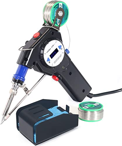 wholesale YIHUA 929D-II Motorized Automatic Feed Soldering Gun with Digital Numerical Temp Display, Variable Precise Temp outlet sale (194 - 896°F), °C/°F Conversion, Sleep Mode for Wire splicing, Wire-to-switch, wholesale and more outlet sale