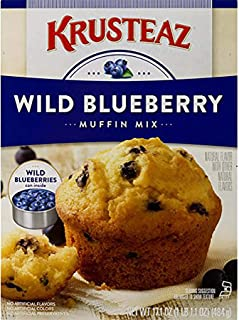 Krusteaz Wild Blueberry Supreme Muffin Mix, 17.1-Ounce Boxes (Pack - 12)