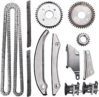 کیت زنجیره ای تایمینگ موتور با کشش راهنمای ریلی میل لنگ چرخ دنده ای چرخ دنده ای جایگزین مناسب برای 2002-2005 کرایسلر کنکورد / سبرینگ 2005-2007 کرایسلر 300 2002-2005 Dodge Intrepid Stratus 2.7L DOHC