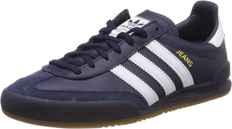 Adidas Herren Jeans Gymnastikschuhe, Weiß Blau Marine