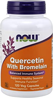 NOW Supplements, Quercetin with Bromelain, Balanced Immune System, 120 Veg Capsules