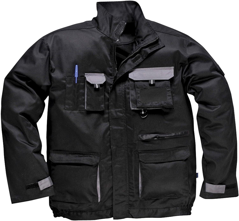 Portwest Workwear Mens Contrast Jacket Black Large