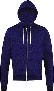 Men's Peppered Fleece Long Sleeve Zip Hoodie