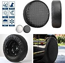 VIEFIN Set of 4 Wheel Tire Covers, Waterproof UV Sun RV Trailer Tire Protectors, Fit 27