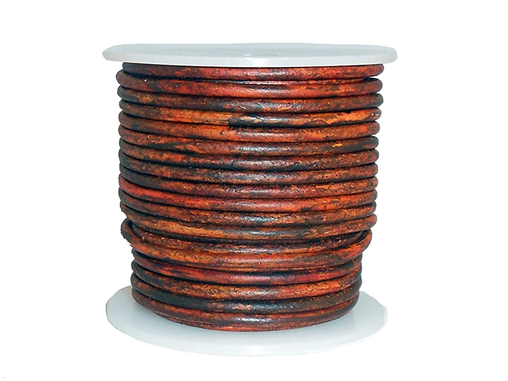 cords craft Round Leather Cord for Bracelet & Necklaces Plain Genuine Leather Cord 2.0MM C15 Tie-N-Dye