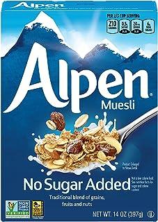 Alpen No Sugar Added Muesli, Swiss Style Muesli Cereal, Whole Grain, Non-GMO Project Verified, Heart Healthy, Kosher, Vega...