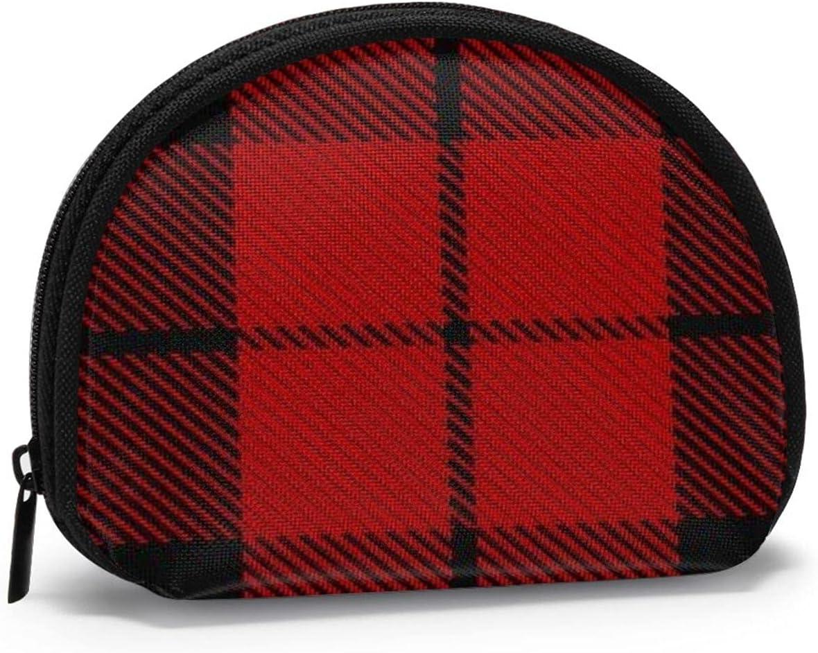 Scottish Clan Wallace Red Black Tartan Cute small zipper Coin Purses Vintage zipper Pouch Change Purse Wallets