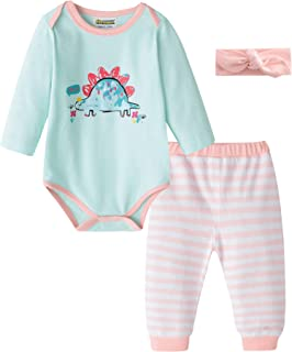 Baby Girls & Baby Boys Infant Romper Bodysuit and Fashion Pant Sets 2pcs Outfits