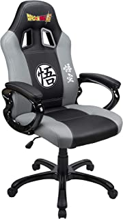 Subsonic - Sillón Gamer DBZ con asiento ergonómico, Silla gaming giratoria de oficina con Licencia oficial Dragon Ball Super, Gris y Negro (PS4)
