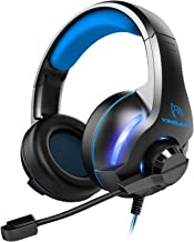 Best YINSAN Gaming Headset with Microphone for Xbox One PS4 PC Headphones with mic, Bass Surround, LED Light & Noise-Isolation Mic, Compatible with PC/PS4/Xbox One/Switch (USB Extension Cable Contained) Review