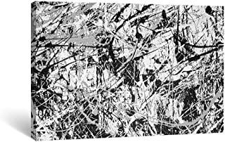 Gronda Abstract Wall Art Jackson Pollock Style Artwork Canvas Paintings Wall Decor Framed Picture Ready to Hang for Living Room Bedroom Bathroom,16x24 inch.