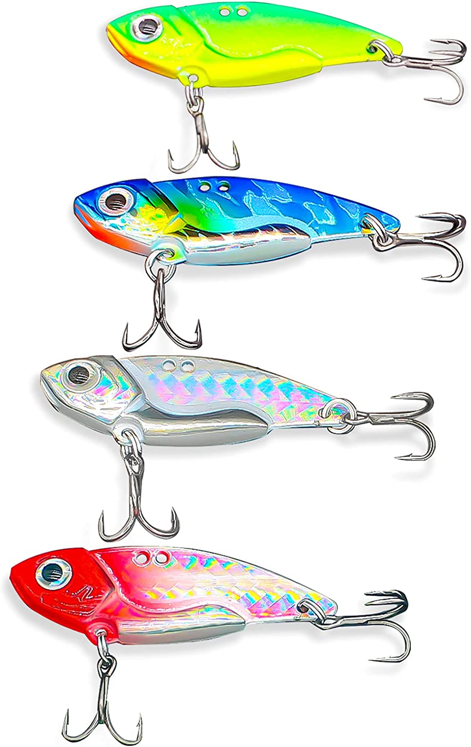 Lilureena 4pcs Spinner Spoon Swimbait with H Lures Max 55% OFF Fishing Import Baits