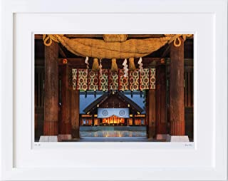 【写真工房アートフォト 額装写真】 晩秋の北海道神宮/北海道 札幌市(ホワイト 大判サイズ 557mm×442mm)
