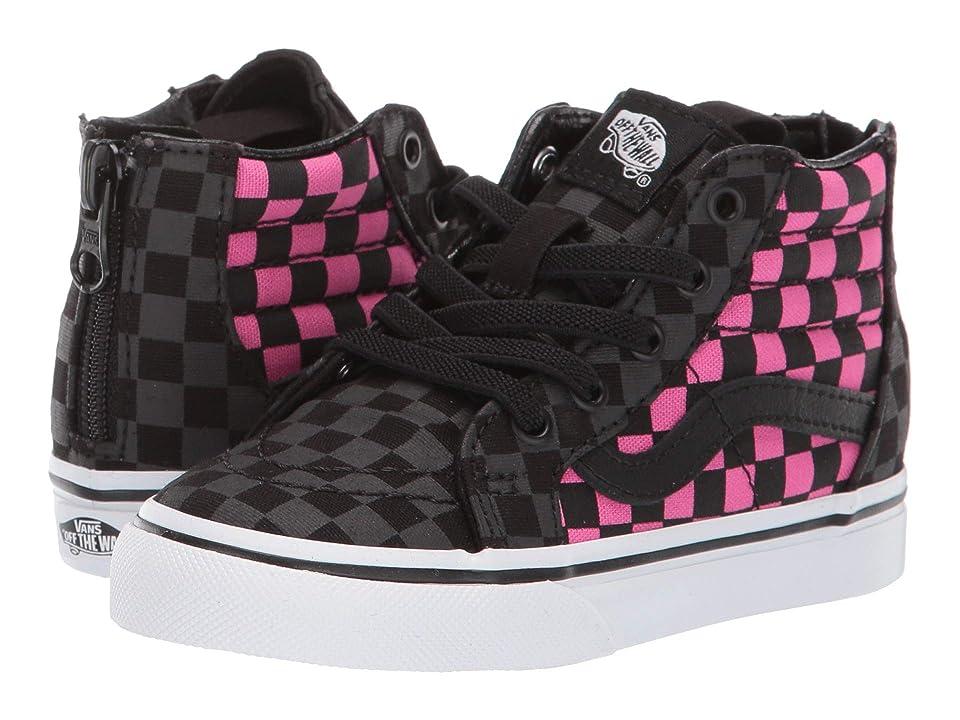 Vans Kids Sk8-Hi Zip (Infant/Toddler) ((Checkerboard) Carmine Rose/Black) Kids Shoes