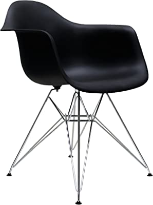 Ventamueblesonline Pack 4 SILLONES Tower Chrome Negros ...