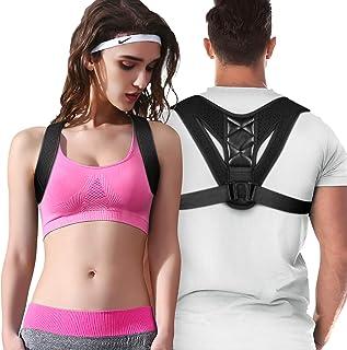 comprar comparacion Entligent Corrector de Postura, Corrector de Postura Espalda Hombro para Mujer y Hombre Ajustable Faja Espalda Recta Sopor...