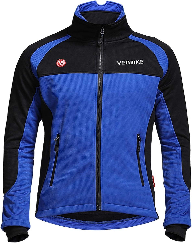 AmDxD Herren Winter Mountainbike Fahrradshirts Radfahren Jersey Schnelltrocknend Atmungsaktiv Sport Langarmtrikots