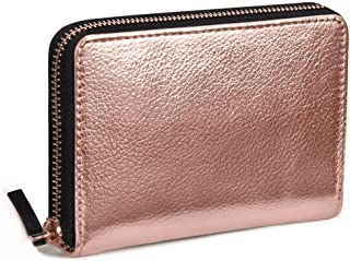 DailyObjects Zipper Slim Card & Coin Wallet Colour- Gold, Size- 4.7X.75x3.2 Inch
