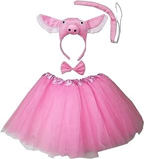 Kirei Sui Kids 3D Animal Costume Face Ears Headband Bowtie Tail Tutu Set