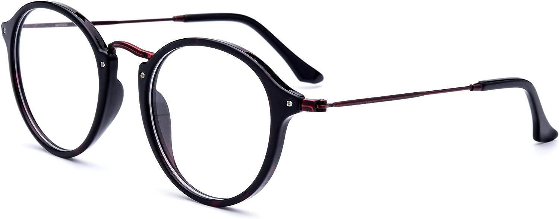 HEPIDEM Acetate Women Round Myopia Optical Glasses Frame Eyewear Spectacles 2036
