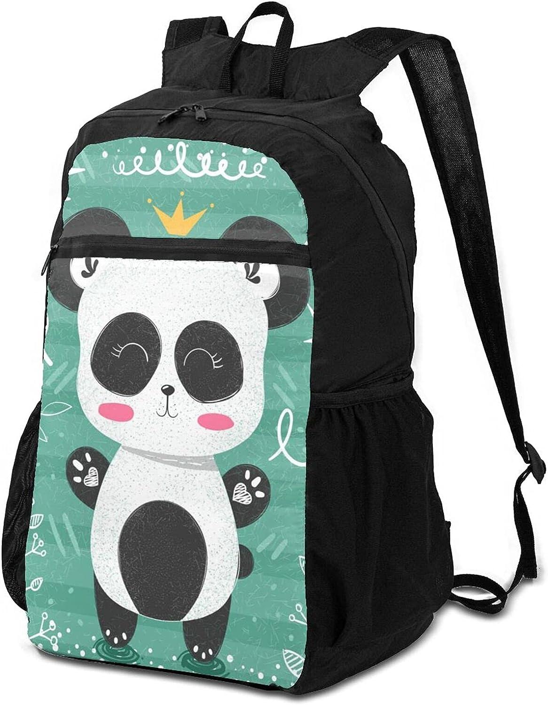Cute Max 78% OFF Panda Ranking TOP13 Pattern Lightweight Packable O for Men Backpack Women
