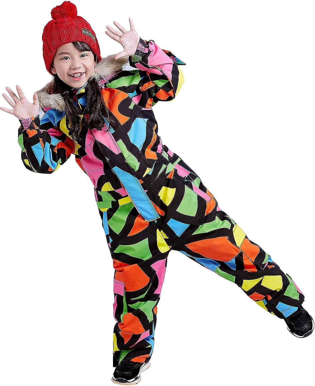 Bluemagic Kids Baby One Piece Snowsuits Overalls Ski Suits Jackets Coats Jumpsuits Winter Outdoor Waterproof Snowboarding