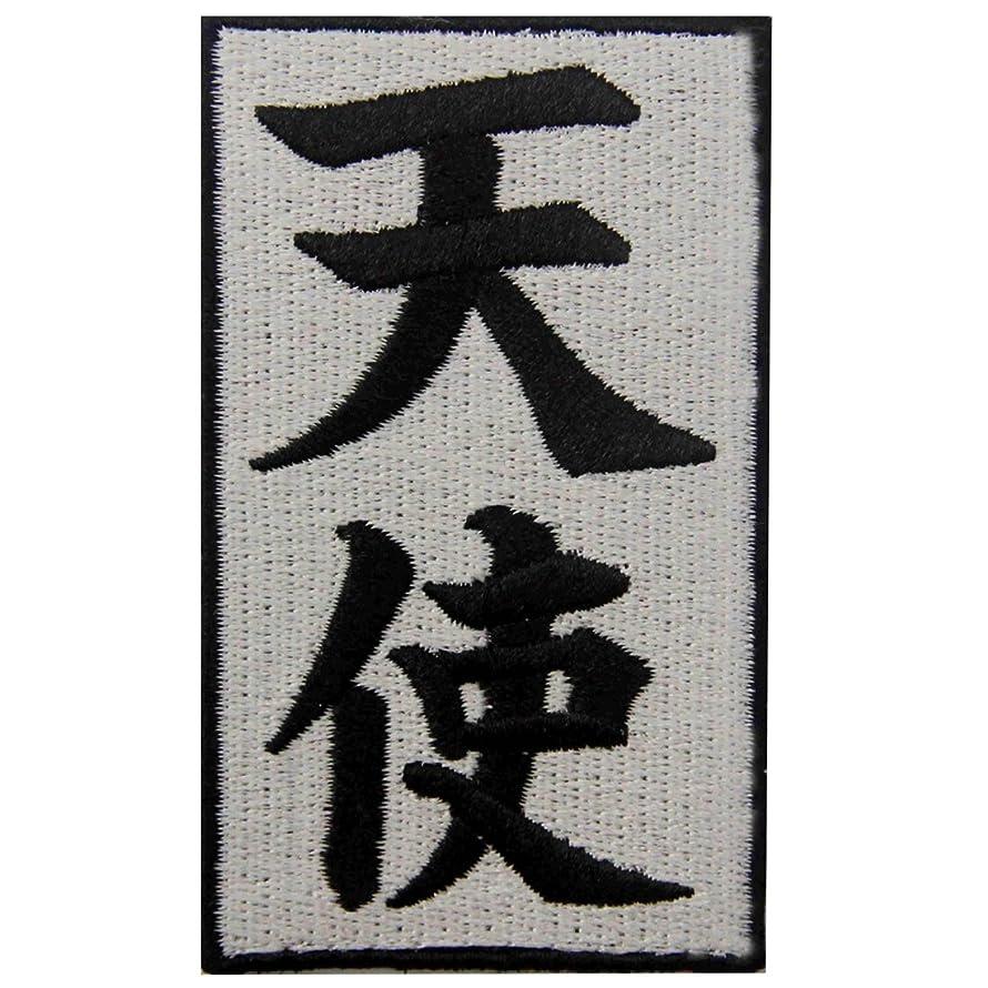 Japanese Kanji Angel Tenshi Symbol Badge Embroidered Iron On Sew On Patch