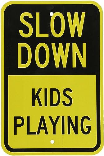 "SmartSign ""Slow Down - Kids Playing"" Sign | 12"" x 18"" 3M Engineer Grade Reflective Aluminum"