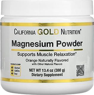 California Gold Nutrition Magnesium Powder Beverage Orange Flavor - 373 g