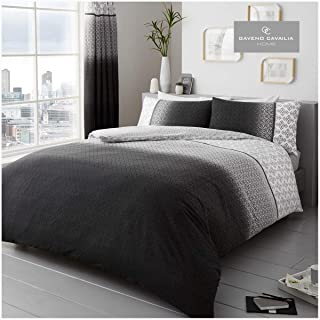 Gaveno Cavailia Luxury Urban Ombre Bed Set with Duvet Cover and Pillow Case, Polyester-Cotton, Grey, King