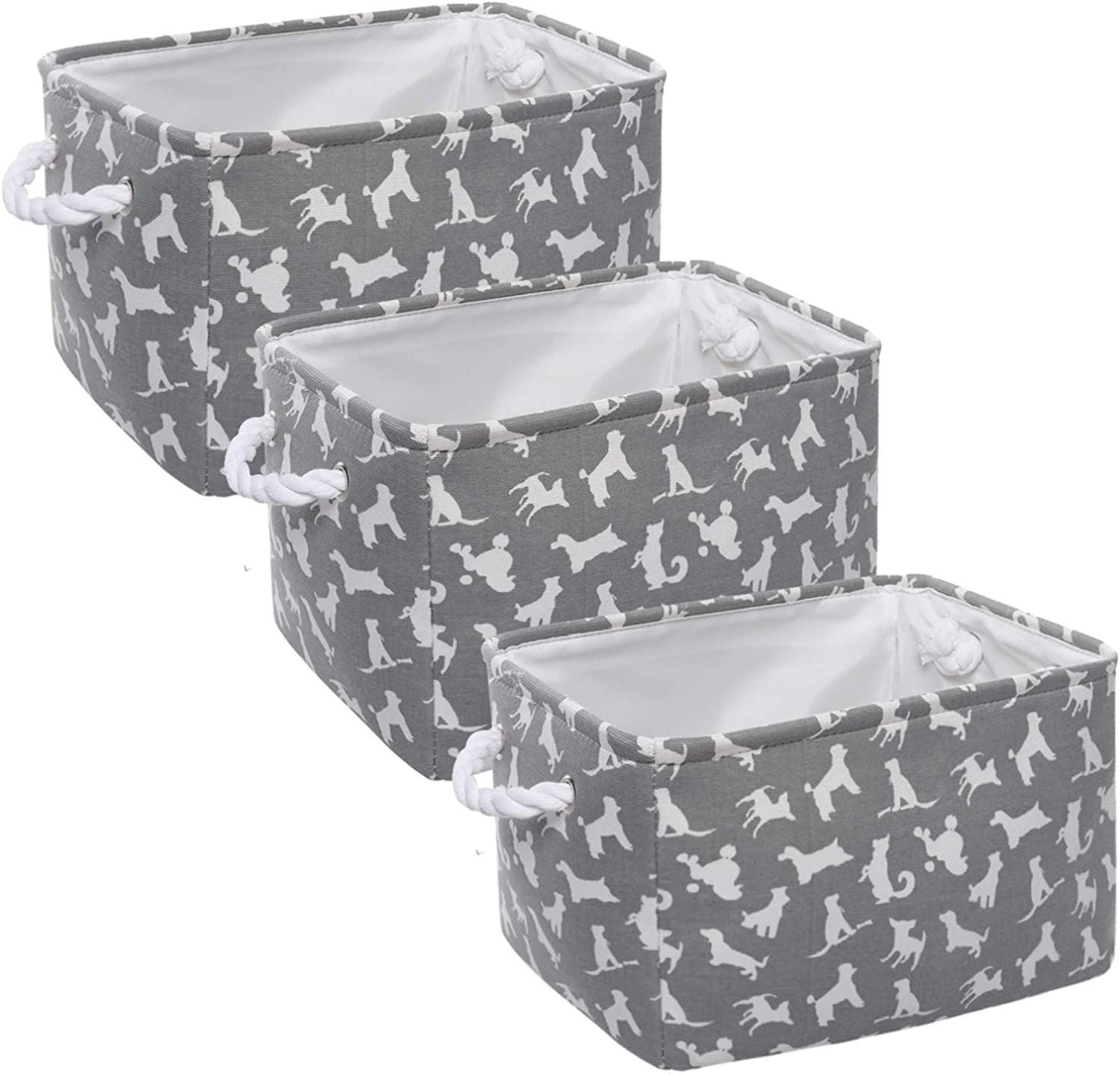 Max 57% OFF HOKEMP Large Cute Designs Animals Pattern Super Special SALE held 3-Pack Basket Storage
