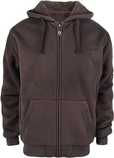 brown fleece hoodie