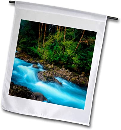 River Flow Over Rock T-Shirts Landscape 3dRose Mike Swindle Photography