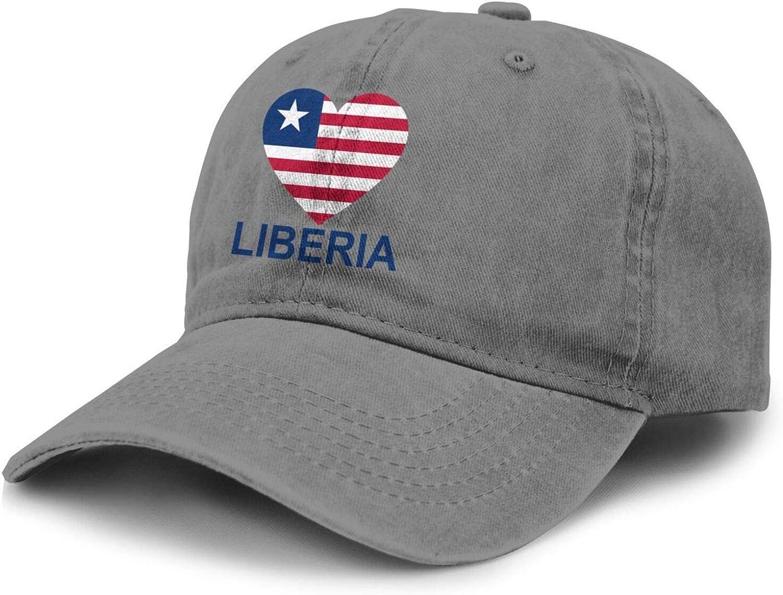 Love Liberia Adult Curved Brim Baseball Hat Sports Cowboy Cap