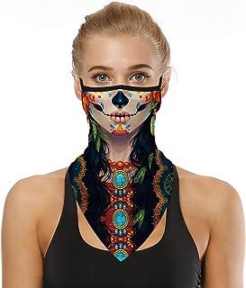 Face Bandana Ear Loops Stylish Men Women Neck Gaiters for...
