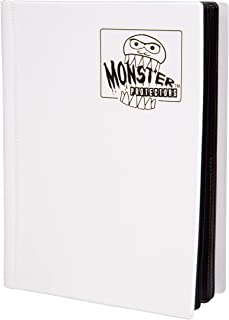 Monster Binder - 4 Pocket Trading Card Album - Matte White (Anti-theft Pockets Hold 160+ Yugioh, Pokemon, Magic the Gather...