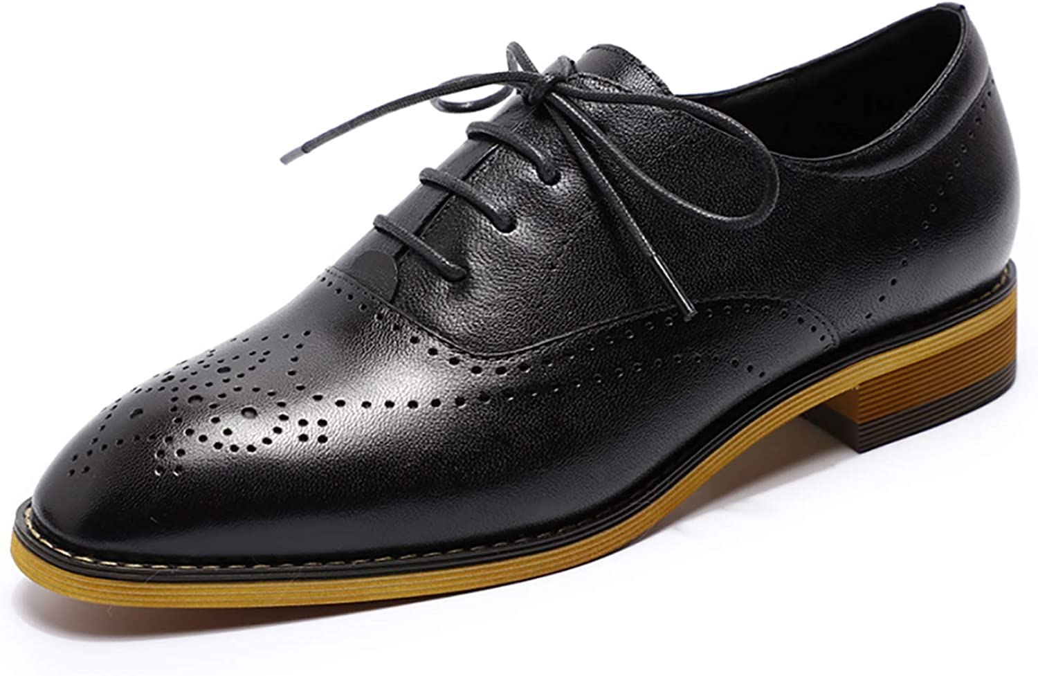 MIKCON Women's Leather Oxford Dress Shoes Perforated Oxf Up Virginia Ranking TOP14 Beach Mall Lace