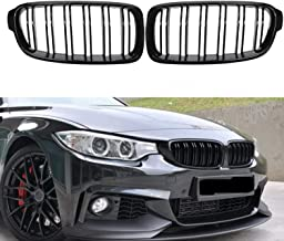 Fit 2012-2018 BMW 3 Series F30 F31 F35 Grille High Gloss BLACK Cool Bussiness Style Replacement Conversion Grill Sturdy AB...