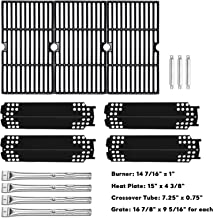 Uniflasy Grill Replacement Parts Kit for Charbroil 461334813, 463436215, 463436213, Thermos 466360113 and Other Grills, Includes Burner Tube, Heat Shield Plate, Cooking Grate and Crossover Tube
