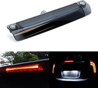 iJDMTOY Smoked Lens 9-LED 3rd Brake Light Assy For Toyota 4Runner Highlander Prius Sienna etc, Rear Center Roof High Mount LED Third Brake