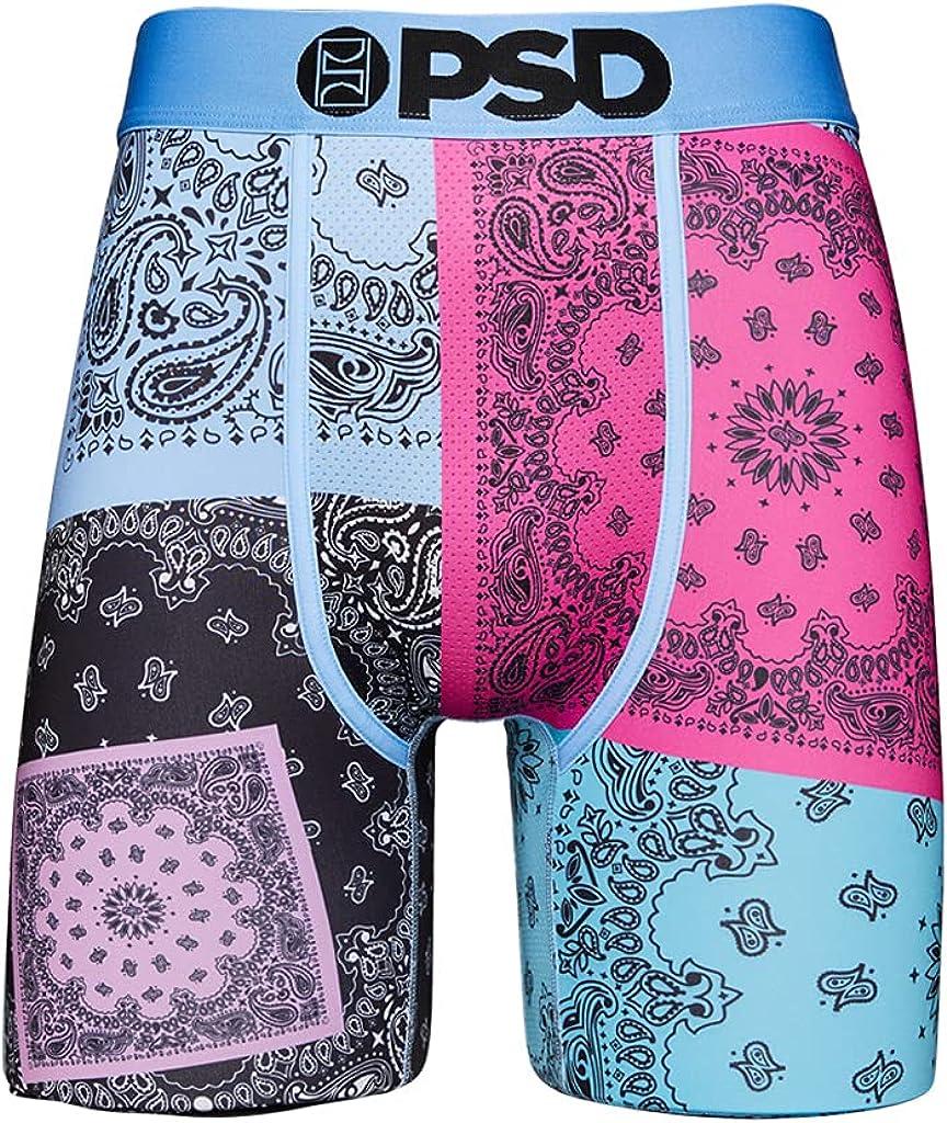 PSD Underwear Men's Pop Patchwork Printed Boxer Brief