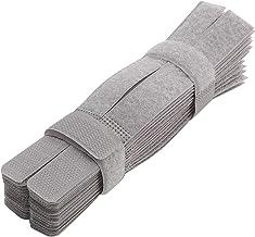 PASOW 50 peças de prendedor colorido reutilizável de cabos organizador de amarrar cabo suporte de corda para laptop PC TV ...