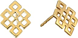 Endless Knot Post Earrings - Precious Metal