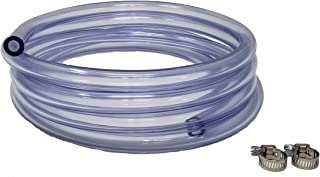 Sealproof 5/16-Inch ID 9/16-Inch OD Crystal Clear Vinyl Tubing, 10 FT, CO² Gas Hose with 2 Worm Gear Hose Clamps, for Homebrewing, Beer Line, Kegerator, Draft Systems Air Hose, Made in USA