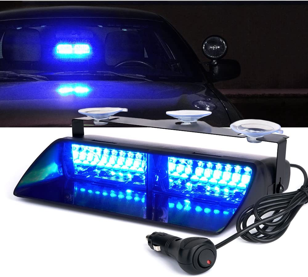 Xprite Blue LED Emergency Strobe Lights Wi w Front 40% OFF Cheap Sale Suction Discount is also underway Cups