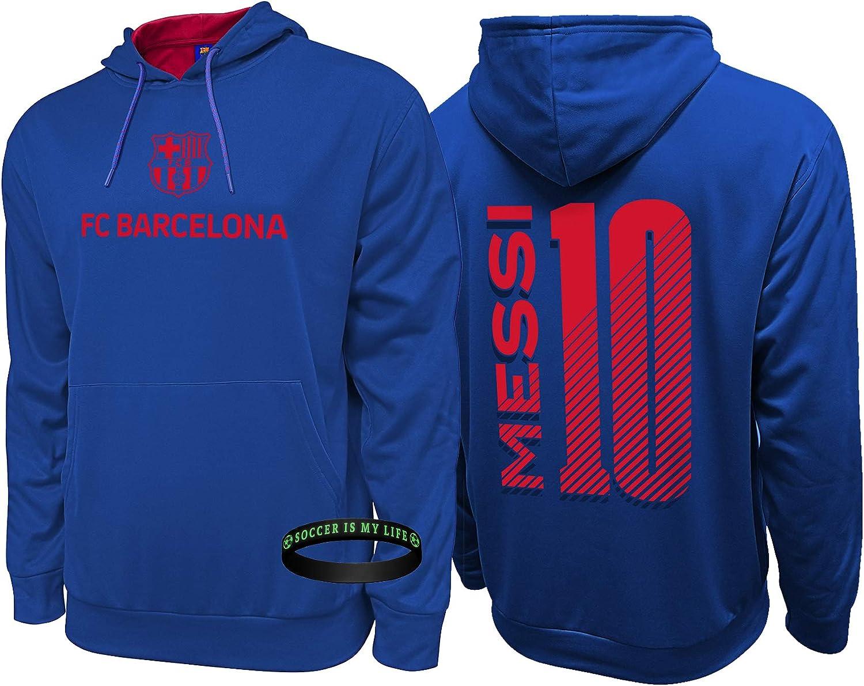 Messi Felpa Lionel Barcelona Calcio Regalo Grafico Evolution Evo Hoody Top