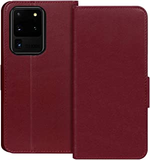 "FYY Samsung S20 Ultra Case 6.9"", Luxury Cowhide Genuine Leather [RFID Blocking] Wallet Case with Kickstand and Card Slots ..."