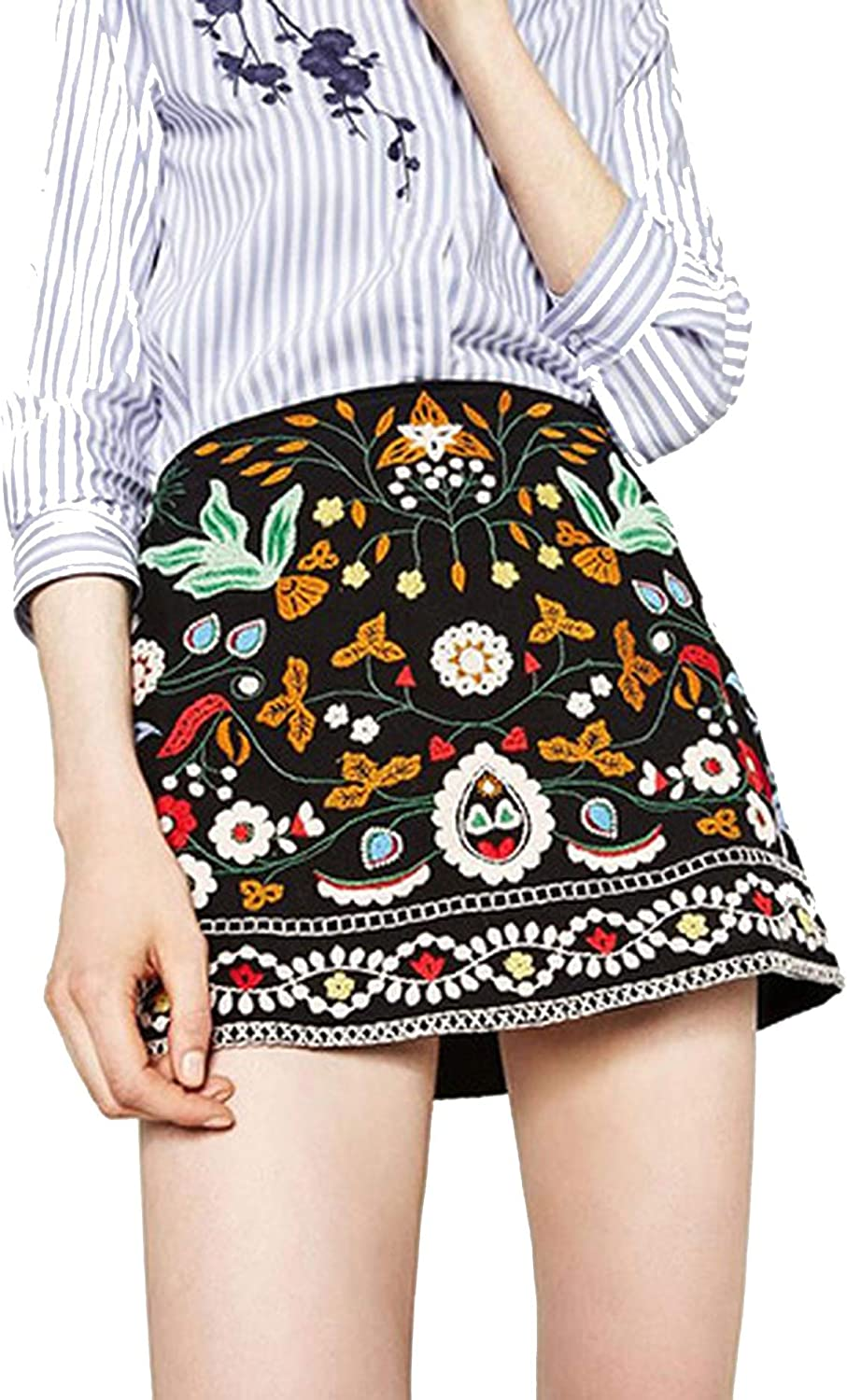Spring Summer The New Women's Clothing Embroidery National Wind Flower Skirts