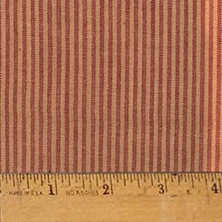 Heritage Red Stripe Cotton Homespun Plaid Fabric by JCS - Sold by The Yard