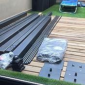 Alices Garden Pergola, Aluminio, Gris, 3 mx 3 m